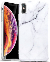 ESR Marble Slim Soft Case for iPhone X/Xs - White