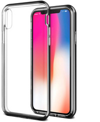 Verus Crystal Bumper Series case for iPhone X/Xs - Metallic Black