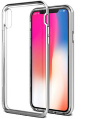 Verus Crystal Bumper Series case for iPhone X/Xs - Satin Silver