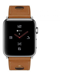 Coteetci W15 Leather Strap for Apple Watch 38mm | 40 mm - Brown
