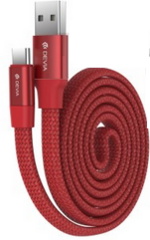 Devia Ring USB to Type-C Cable 0.8m - Red