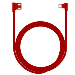 Devia King Series Dual Right Angle USB Micro 5 Pin cable For Android - Red