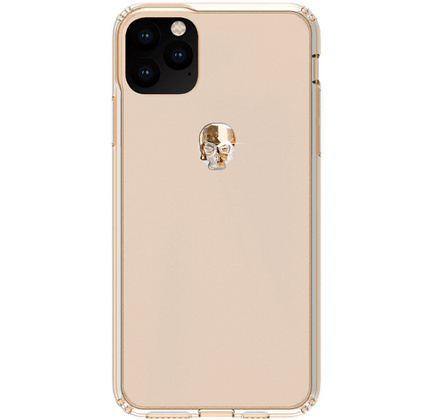 BMT Treasure Clear case for iPhone 11 PRO Max - Gold Skull