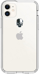 BMT Treasure Clear case for iPhone 11 - Silver Skull