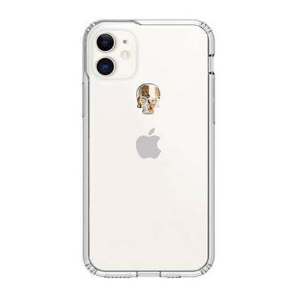 BMT Treasure Clear case for iPhone 11 - Gold Skull