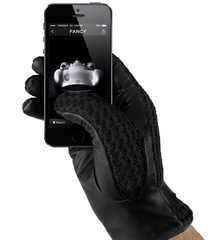 Mujjo Leather Crochet Touchscreen Gloves