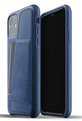 MUJJO Full Leather Wallet Case for iPhone 11 - Monaco Blue
