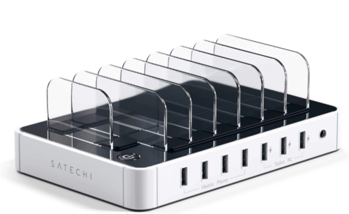 Satechi 7-Port USB Charging Station Dock - White