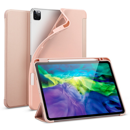 Sdesign Silicone Case with Apple Pencil holder for iPad Pro 12.9'' 2020 - Rose Gold