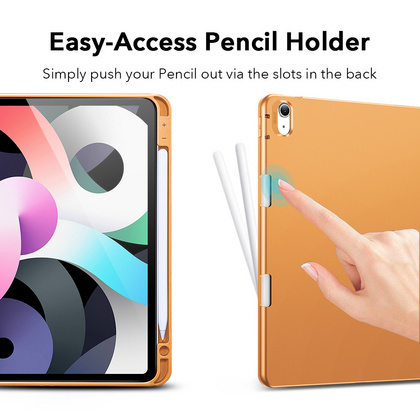 Sdesign Silicone Case with Apple Pencil holder for iPad Air 4 - Papaya