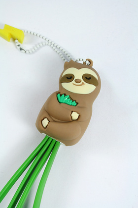 MojiPower MultiCable - Lazy Sloth