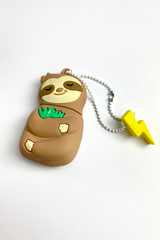 MojiPower Sleepy Sloth USB Flash Drive - 16GB