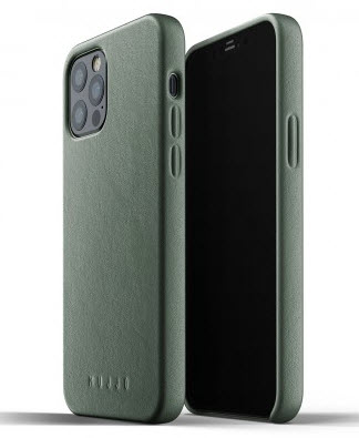 MUJJO Full Leather Case for iPhone 12/PRO - Slate Green