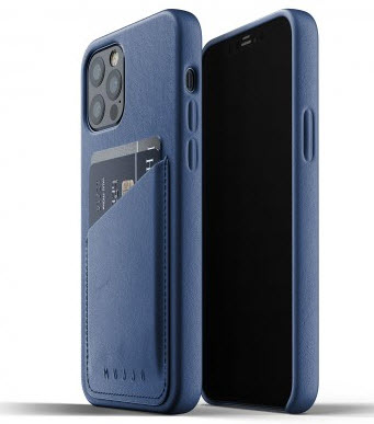MUJJO Pocket Leather Case for iPhone 12/PRO - Blue