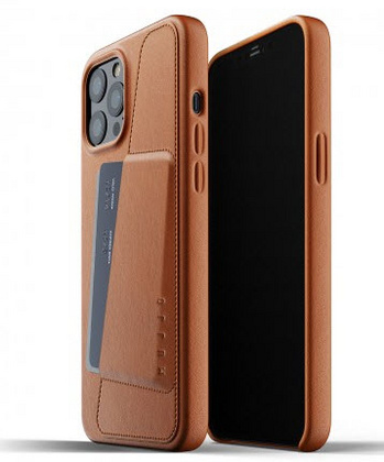 MUJJO Pocket Leather Case for iPhone 12 PRO Max - Tan