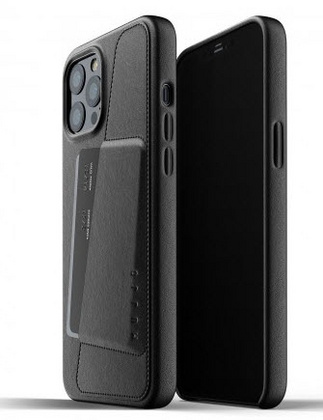 MUJJO Pocket Leather Case for iPhone 12 PRO Max - Black