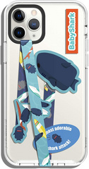 Elago Smartphone strap and stickers - Blue Shark