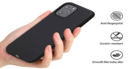 Original Silicone Case for iPhone 12/PRO - Black