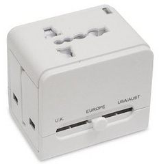 Universal power plug adapter and USB AC charger